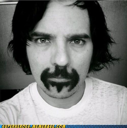 batman,hair,Memes,moustache,Random Heroics,symbol
