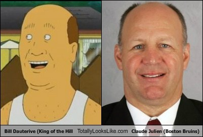 Bill Dauterive (King of the Hill) Totally Looks Like Claude Julien (Boston Bruins)