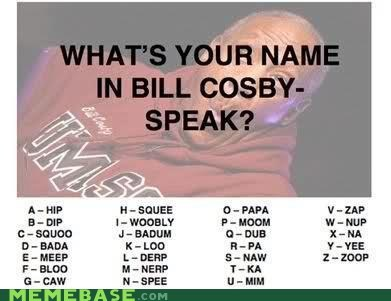 The Alphabet of Cosby