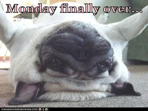 Monday finally over...