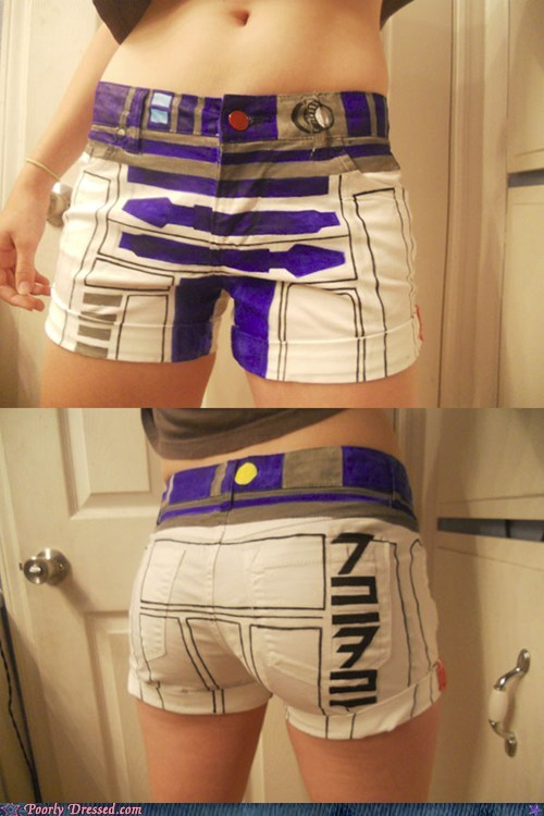 DIY,nerdgasm,r2-d2,shorts,star wars
