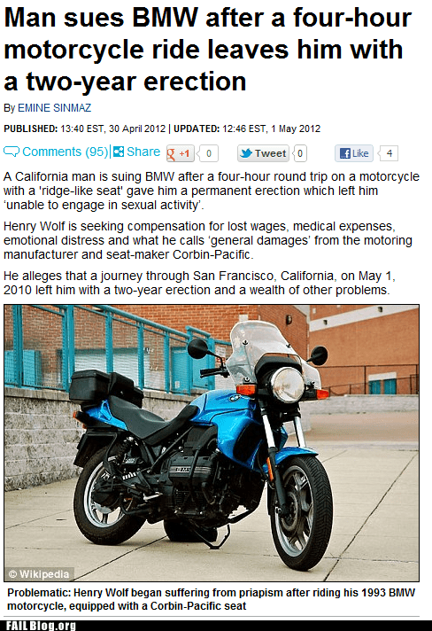 FAIL Nation: Probably Bad News: Motorcycles are Exciting