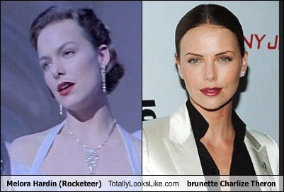 Melora Hardin (Rocketeer) Totally Looks Like Brunette Charlize Theron
