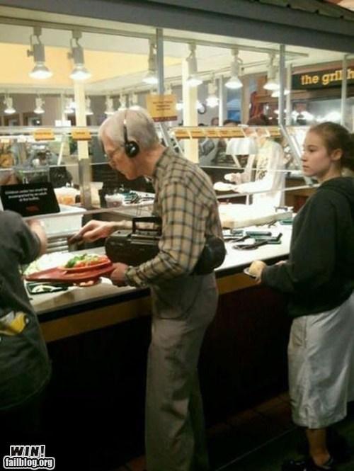boom box,headphones,old people rock