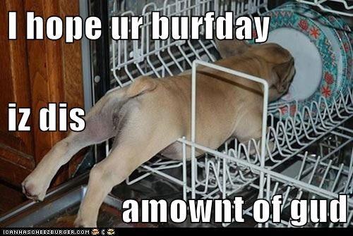 I hope ur burfday iz dis amownt of gud