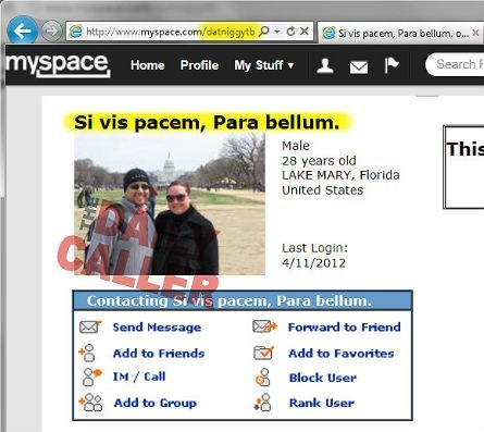 Controversial MySpace Page of the Day