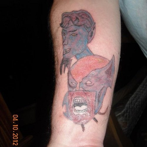Unfortunate X-Men Tattoo of the Day