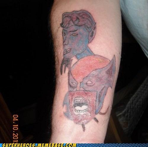 horrible,nightcralwer,Random Heroics,tattoo,wolverine