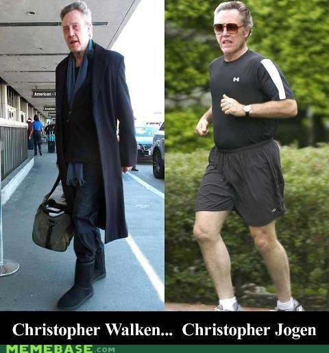 jogging,puns,christopher walken,walk