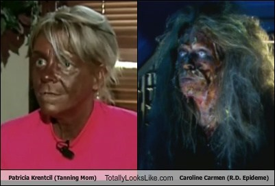 Patricia Krentcil (Tanning Mom) Totally Looks Like Caroline Carmen (R.D. Epideme)
