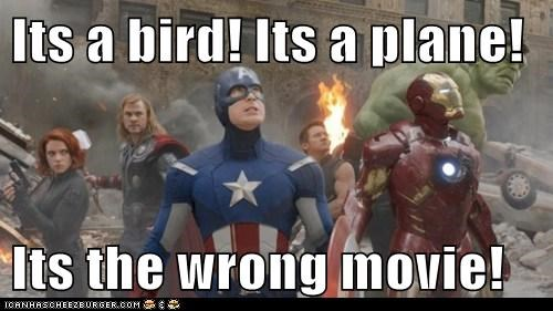 Its a bird! Its a plane!   Its the wrong movie!