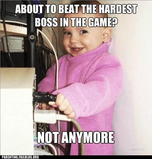 baby,computer,unplug,video game