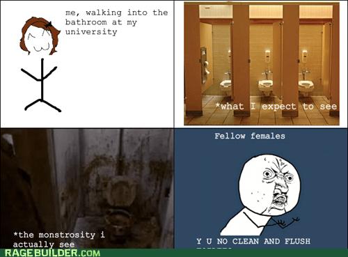 bathroom,pooptimes,Rage Comics,Y U NO