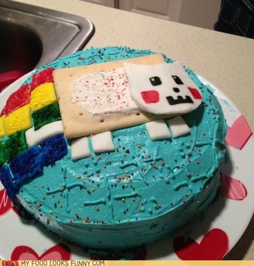 cake,frosting,nyancat,pop tart,sprinkles