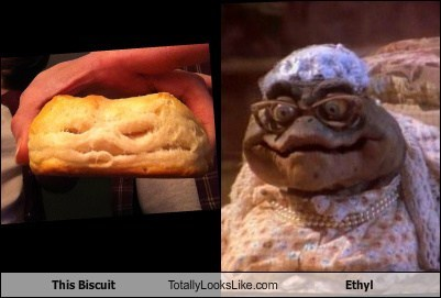 This Biscuit Totally Looks Like Ethyl