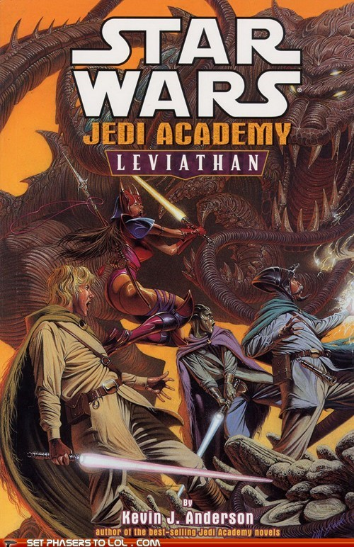 WTF Sci-Fi Book Covers: Star Wars Jedi Academy: Leviathan