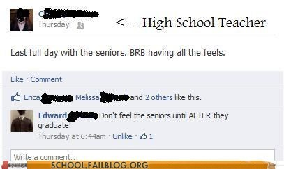Don't Feel the Seniors Ever Either...
