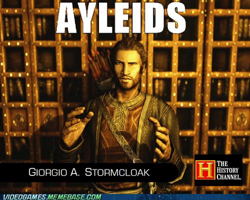 Aliens,aylieds,elder scrolls,meme