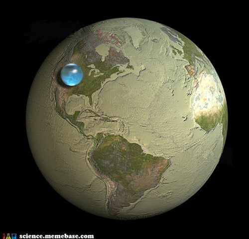 The Earth's Water as a Single Sphere