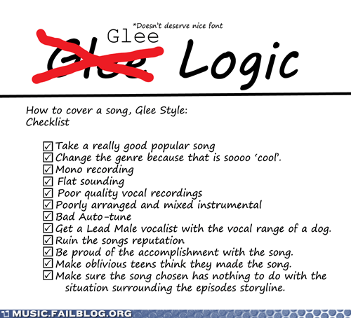 Glee Logic: Is there any?
