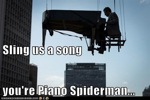 Music,piano,political pictures,Spider-Man