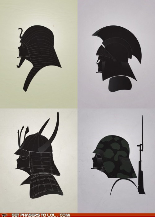 Darth Vader as Warriors from History