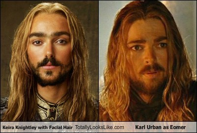 Totally Looks Like: Keira Knightley With Facial Hair Totally Looks Like Karl Urban as Eomer