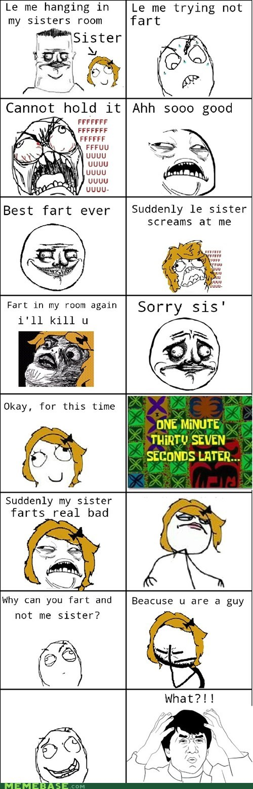 Rage Comics: Le sister is crazy!