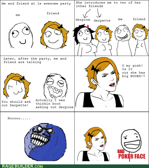 bad poker face,i lied,Rage Comics,relationships
