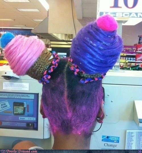 cupcake,g rated,hair,poorly dressed,weave,what