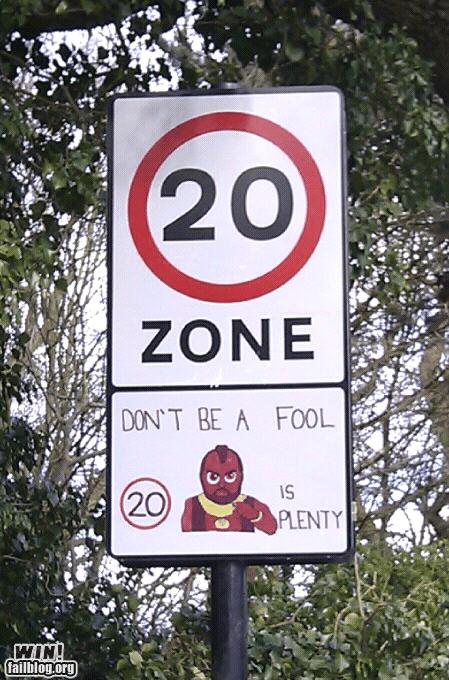 Kid-Designed Traffic Sign WIN