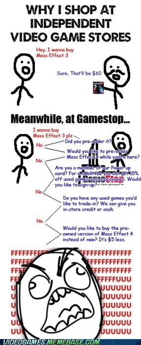annoying,game stores,gamestop,IRL,rage comic,shut up