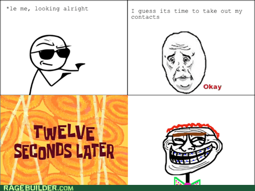 contacts,glasses,melvin,Okay,Rage Comics