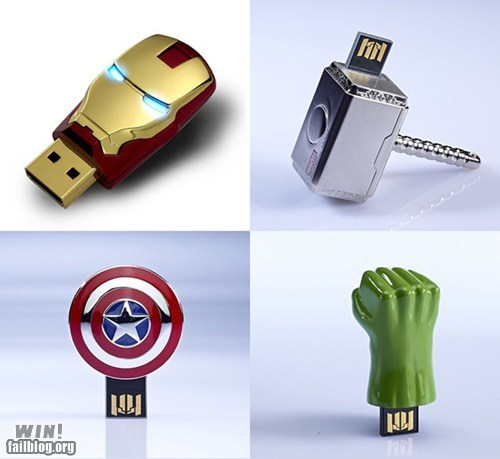 avengers,gadget,Hall of Fame,nerdgasm,office swag,usb drive