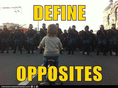 DEFINE  OPPOSITES