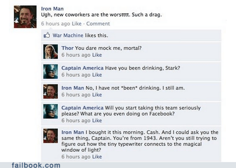 Failbook: Iron Man Is Never Not Drunk