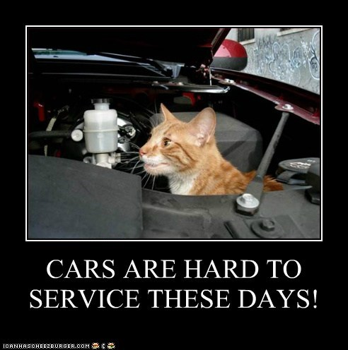CARS ARE HARD TO SERVICE THESE DAYS!