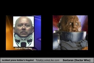Accident prone Robber's Mugshot Totally Looks Like Sontaran (Doctor Who)