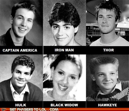 The Avengers in High School