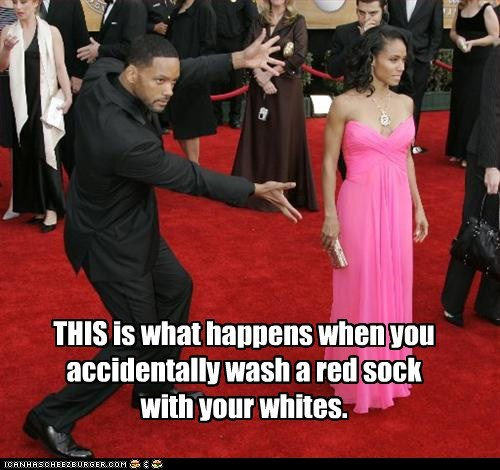 Jada Pinkett-Smith,look at this,pose,red,red carpet,sock,wash,will smith