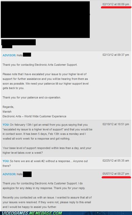 customer support,EA,IRL,months,no service,Sad