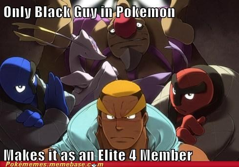 black and white,black guy,dats wacist,elite 4,gameplay,marshal
