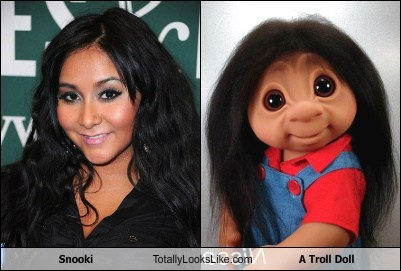 Snooki Totally Looks Like a Troll Doll