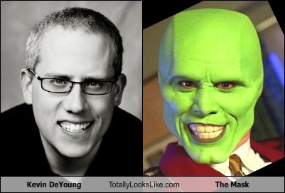 Kevin DeYoung Totally Looks Like The Mask (Jim Carrey)