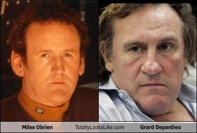 Miles O'Brien Totally Looks Like Gerard Depardieu