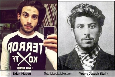 Brian Magee Totally Looks Like Young Joseph Stalin