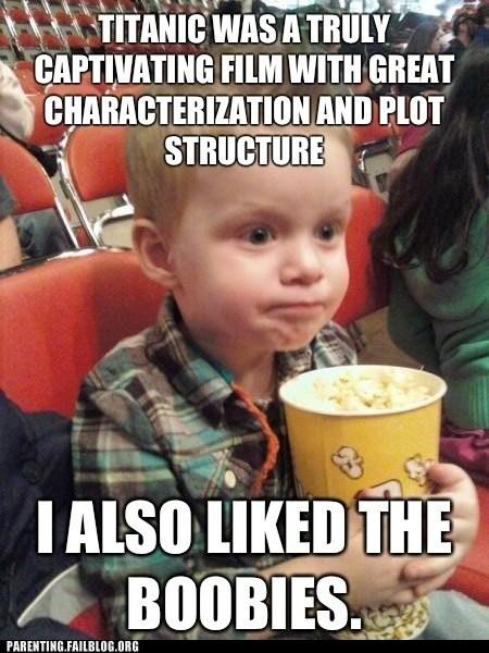 film critic,movie theater,titanic