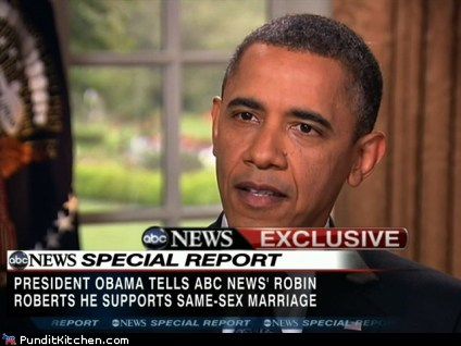 Obama Backs Same Sex Marriage...