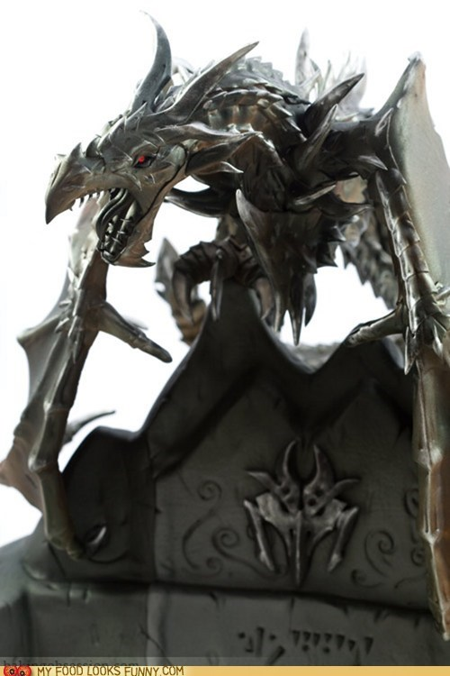 alduin,amazing,dragon,fondant,Skyrim,video games
