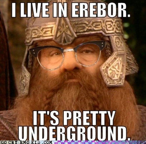 dwarves,gimli,hipster,hipsterlulz,Lord of the Rings,Movie,underground